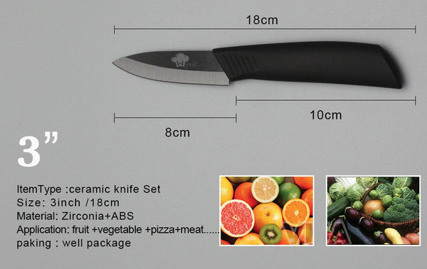 Kitchen - Ceramic Knife Set, 4-piece + Peeler