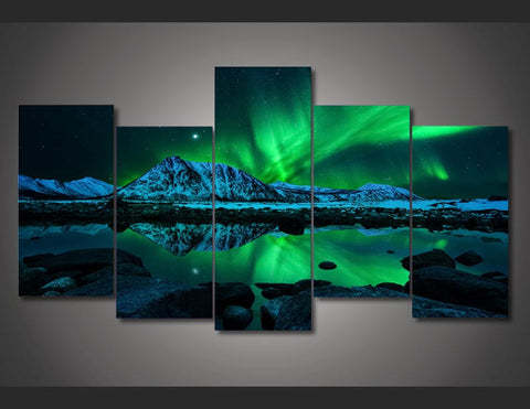 AURORA BOREALIS - 5PC PANEL PAINTING