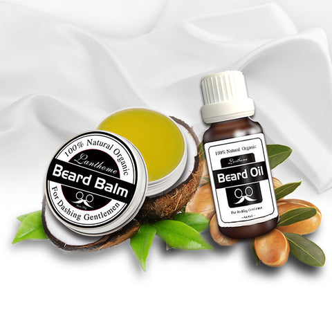 100% Organic Beard Oil & Beard Care Balm