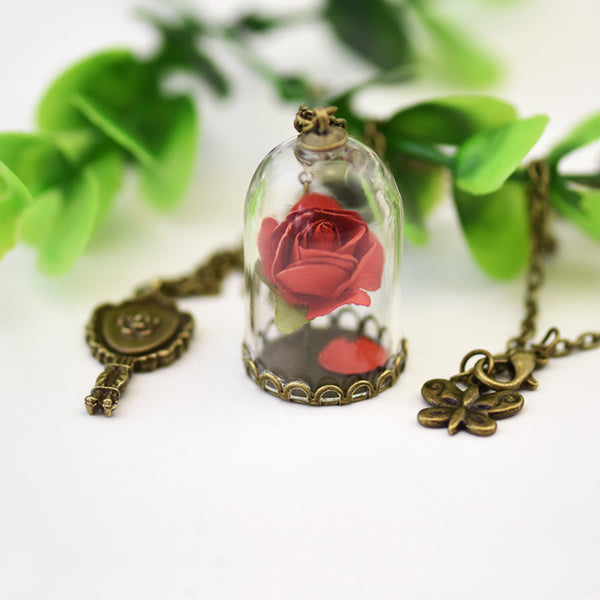 Charmed Rose Necklace