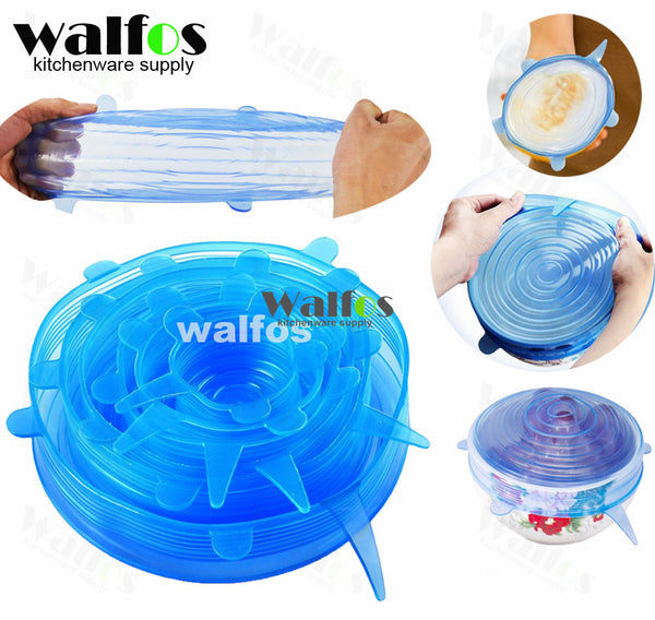 Silicone Cover Lid Food Wrap, 6-piece set