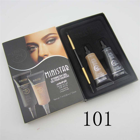 2 Pieces Waterproof Eyebrow Gel Enhancer with Brush