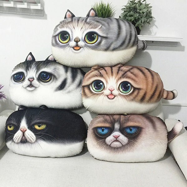 3D Kawaii Cat Cushion Cover