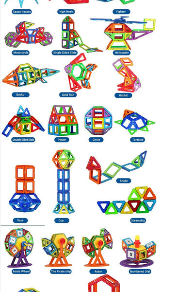 Magnetic Construction Blocks, 34-pieces