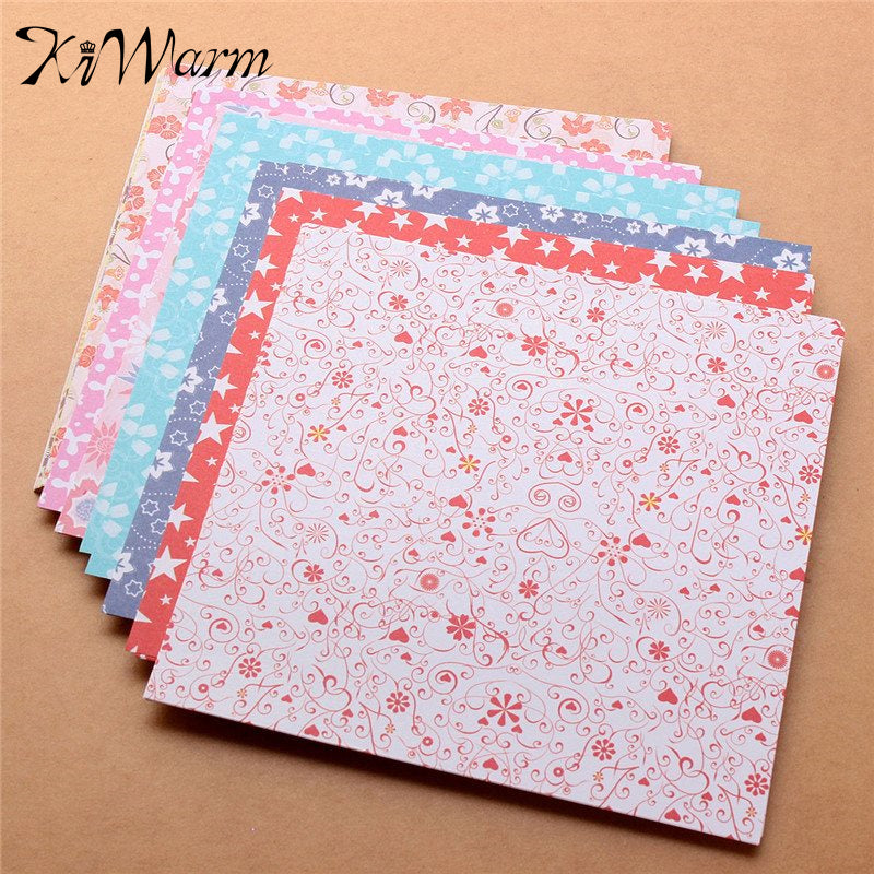 72 Sheets Origami Folding Paper , 12 Types of Patterns Paper Craft