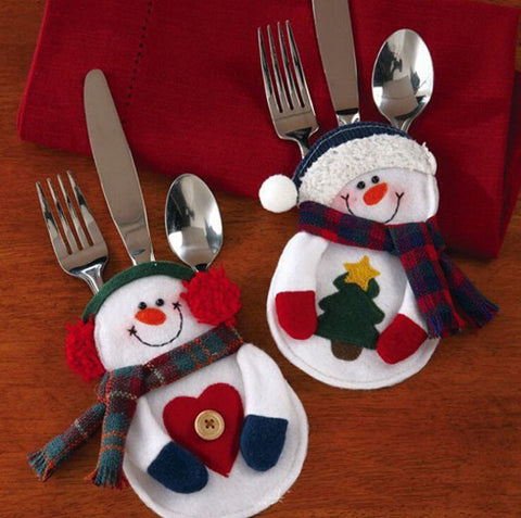 Christmas Silverware Holder, 8-pieces