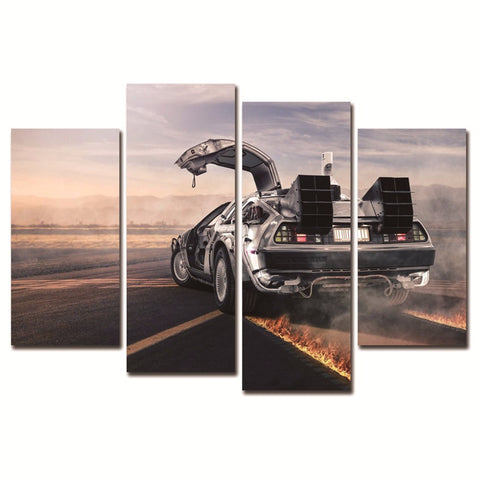Sports Car 4PC Canvas