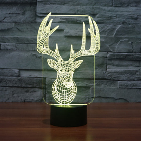 LIMITED EDITION 3D ELK LED LAMP