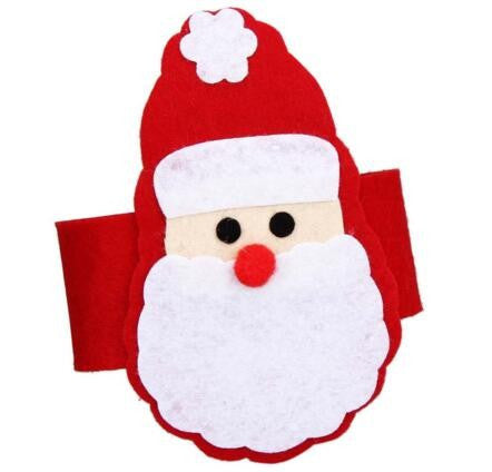 Santa Claus Napkin Rings, 6-pieces