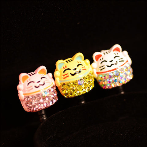 Cute Lucky Cat Phone Dust Plug