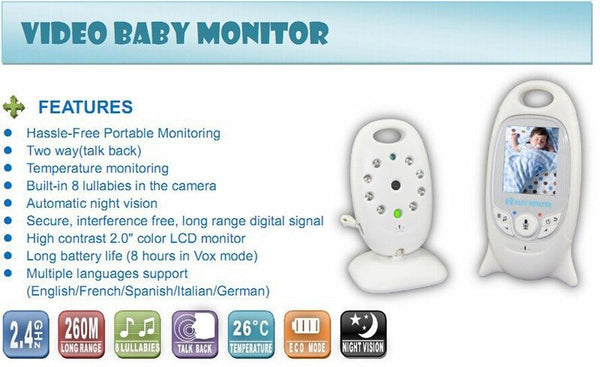 Safety - Video Baby Monitor With 2-way Talk