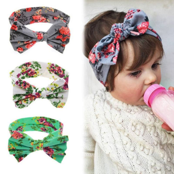 Shoes & Accessories - Baby Girl Floral Butterfly Bow Hairband