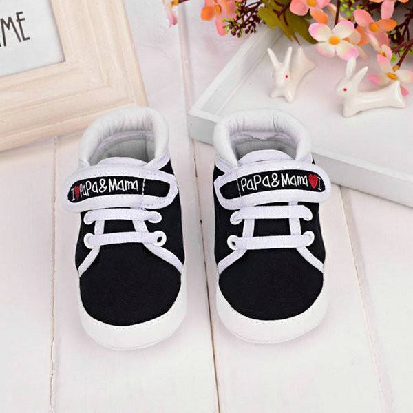 Shoes & Accessories - I LOVE Papa & Mama Baby Canvas Sneakers