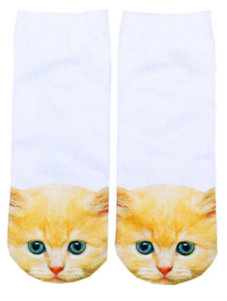 Socks - Kawaii Cat Ankle Socks