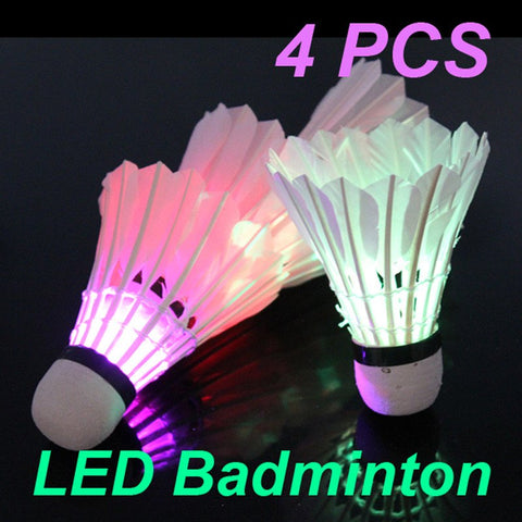 Sports - Colorful LED Badminton Shuttlecock, 4-pieces