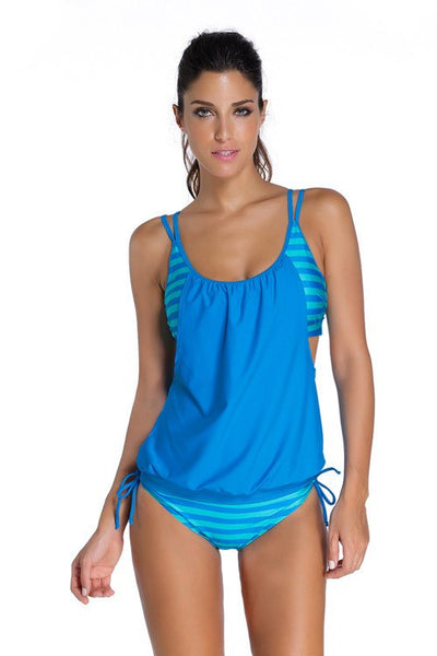 Swimming - 2016 Sexy But Modest Stripes Tankini Swimwear, S To XXXL