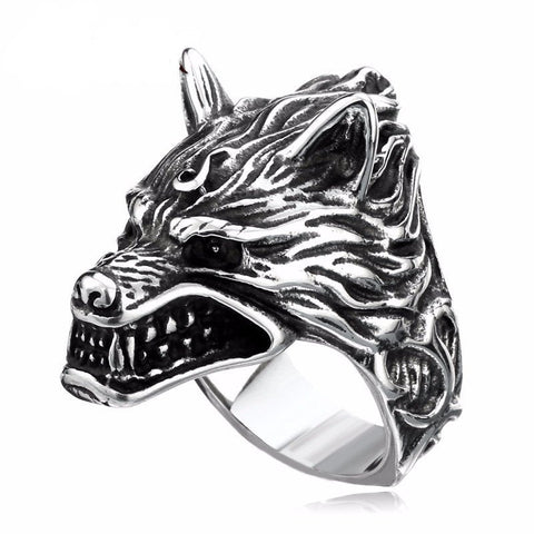 Greyhound Wolf Ring