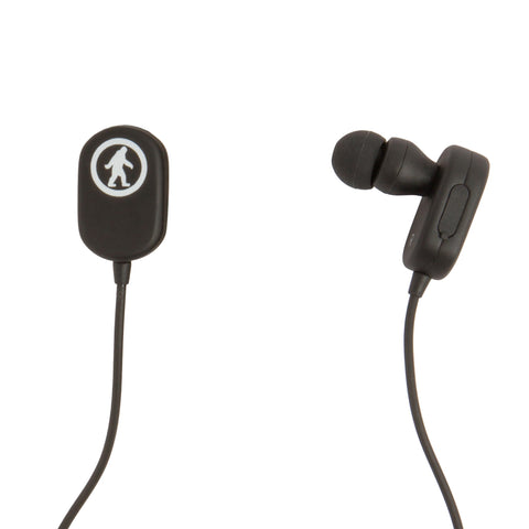 black bluetooth earbuds