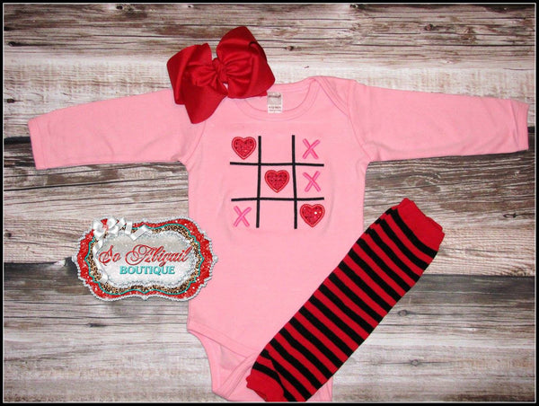 Tick-Tack-Toe Heart Bodysuit