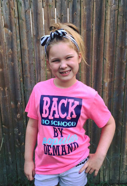 Back To School By Popular Demand Shirt (Glitter)