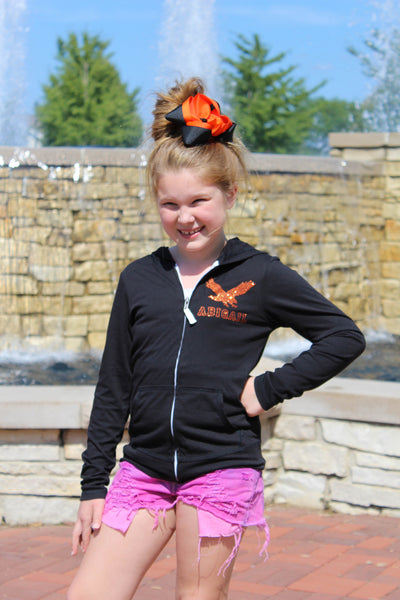 GIRLS Personalized Zip-Up Hoodie