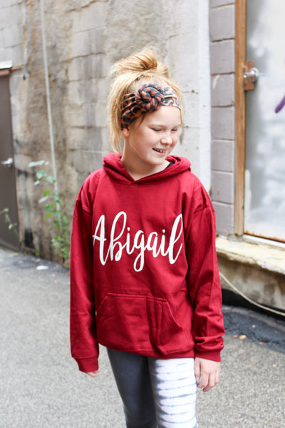 Youth Personalized Hoodie (Script Font)