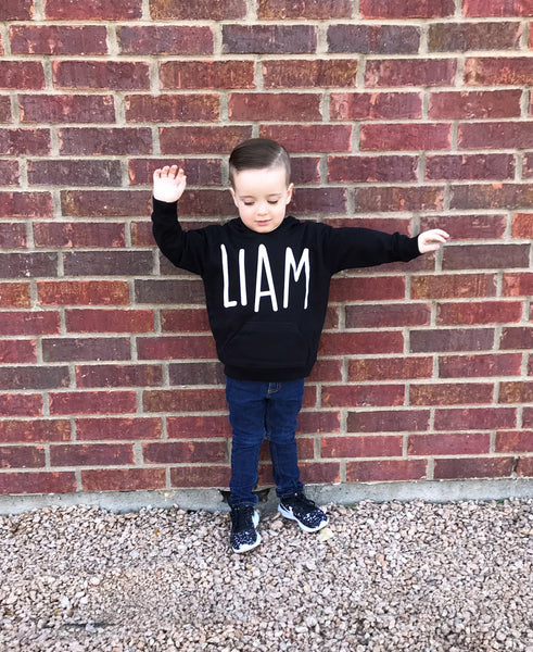 Youth Personalized Hoodie (Letter Font)