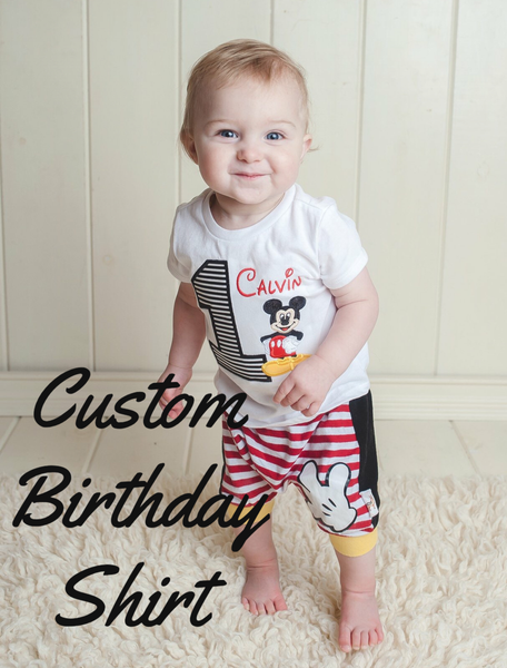 Custom Birthday Shirts/Bodysuits