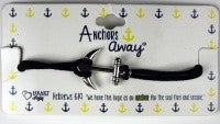 Navy Anchor Bracelet with Scripture