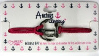 Pink Anchor Bracelet with Scripture