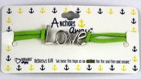 Green LOVE Bracelet with Scripture