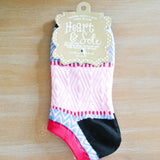 Black Heel Chevron Ankle Socks
