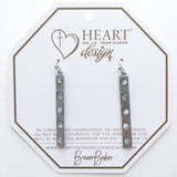 Silver Bar Brulee Earrings