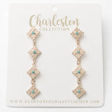 Turquoise Charleston Earrings