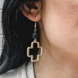 Choose Love Cross Earrings Luna