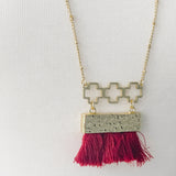 Fringe Necklace - Garnet