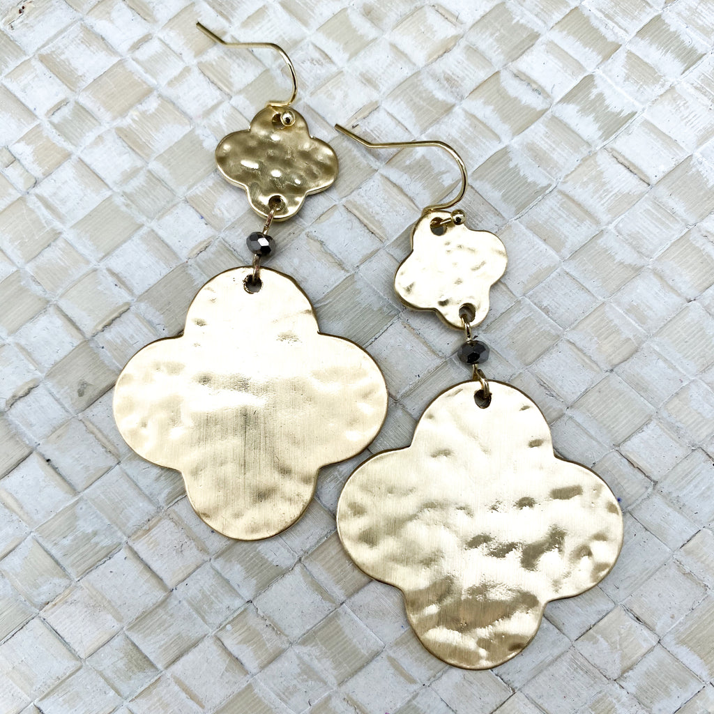 Gold Hammered Earring