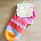 Flamingo Heel Tangerine Toe Crew Socks