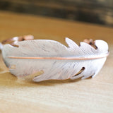 Cream Feather Cuff Bracelet