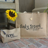 Daily Bread Jute Tote