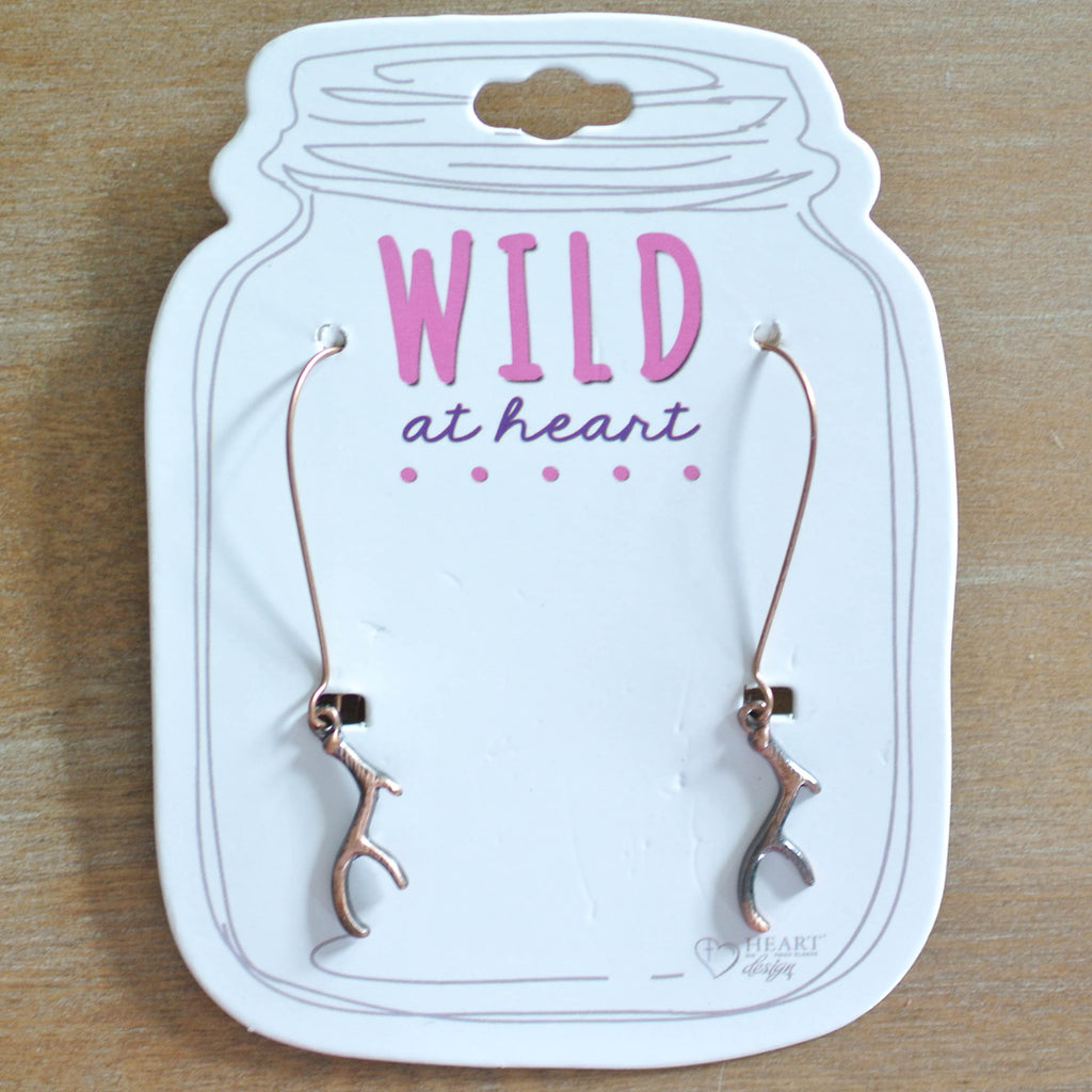 Bronze Antler Earrings