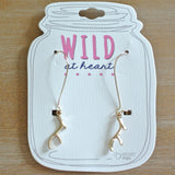 Gold Antler Earrings