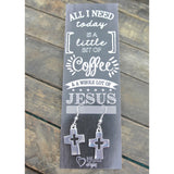 Coffee & Jesus Bible Journaling Earrings