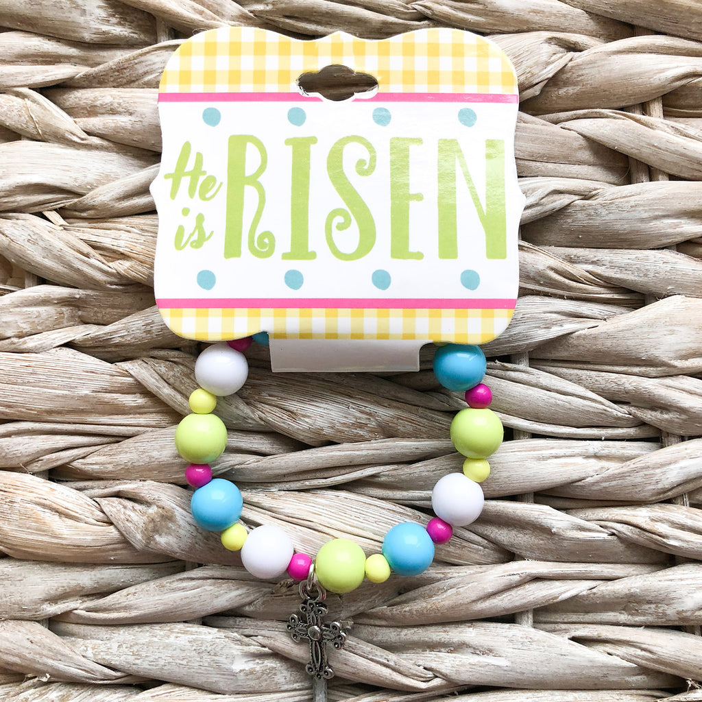 Kid's Easter Cross Bracelet