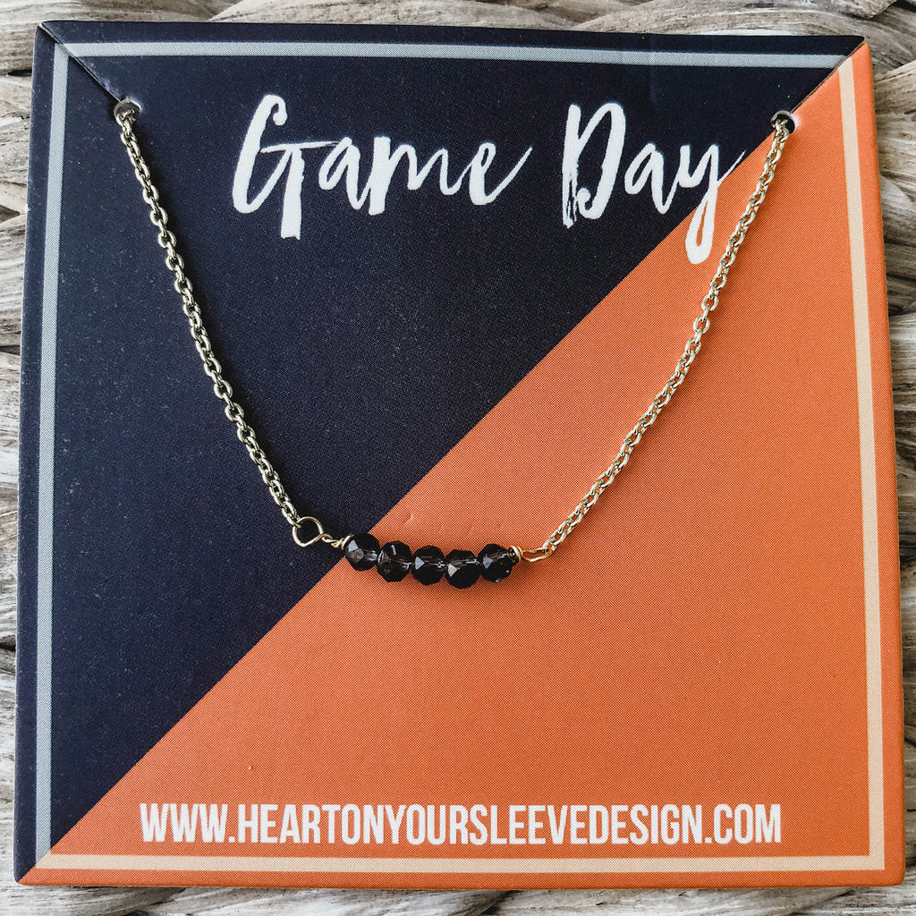 Navy & Orange Necklace
