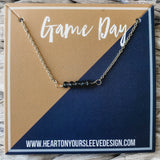 Gold & Navy Necklace