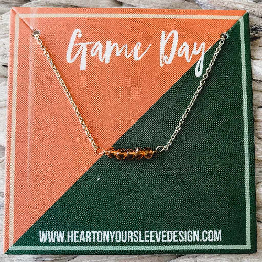 Orange & Green Necklace
