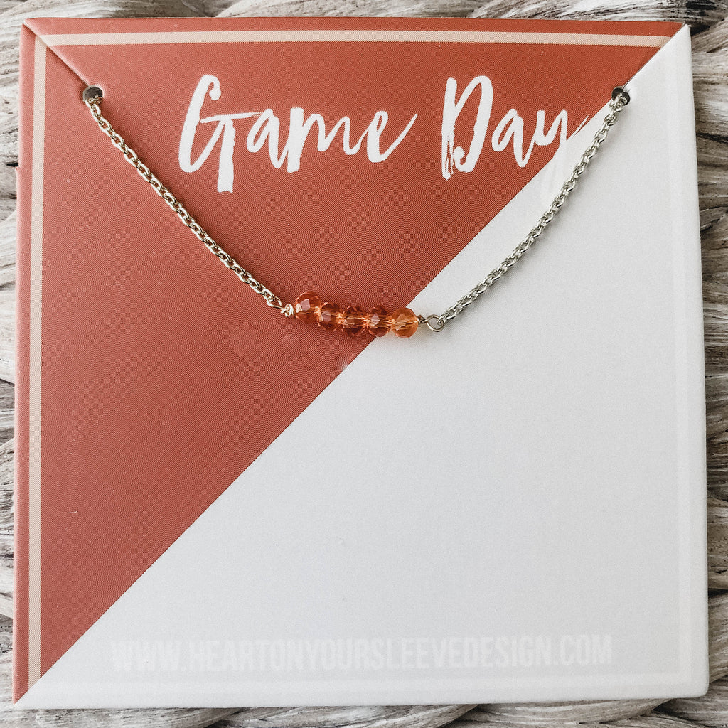 Burnt Orange & Grey Necklace