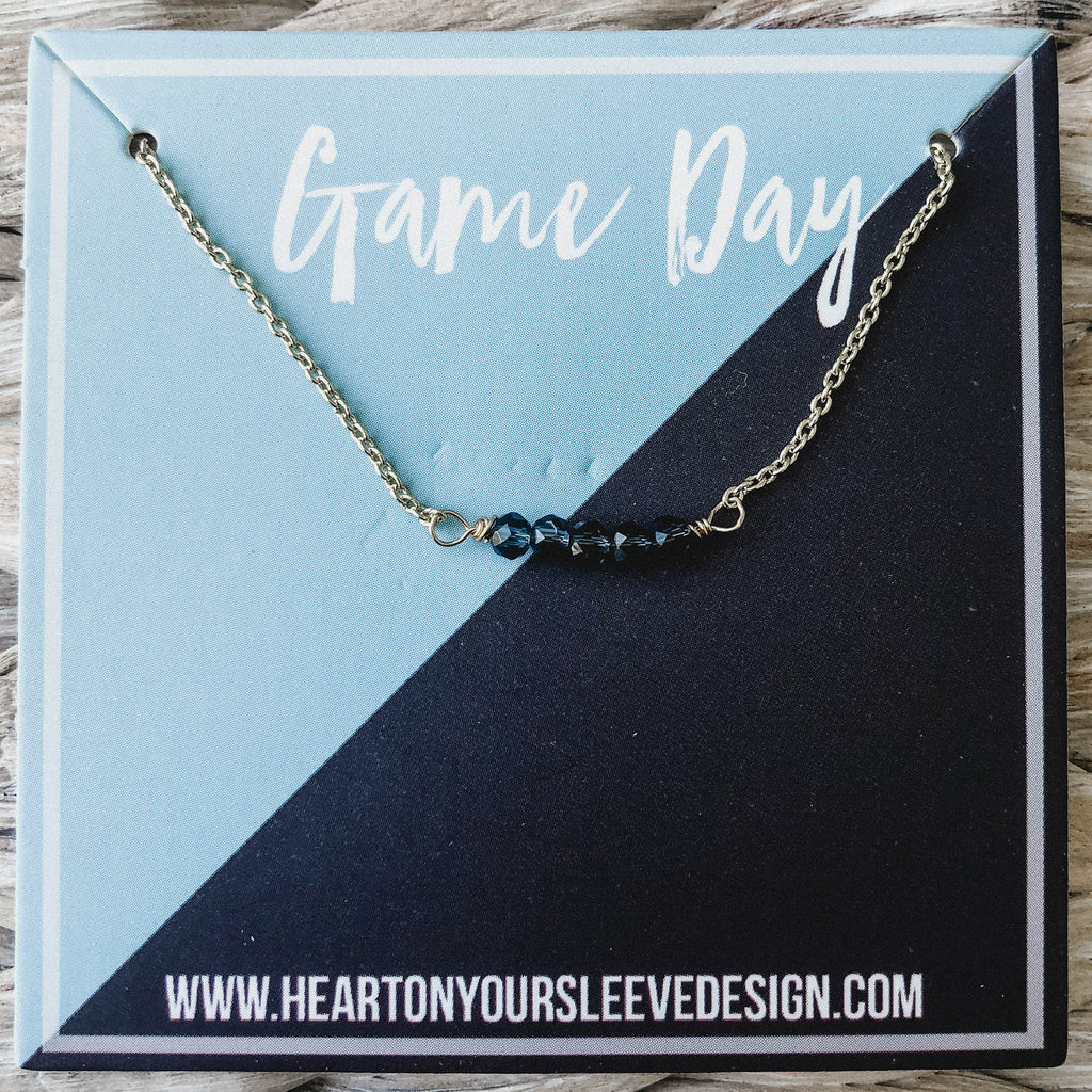 Light Blue & Navy Necklace