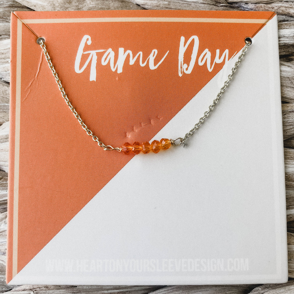 Orange & Grey Necklace